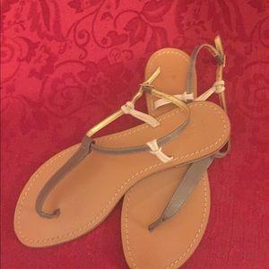 J. CREW Sandals   Size 9   EUC   Grey/Tan